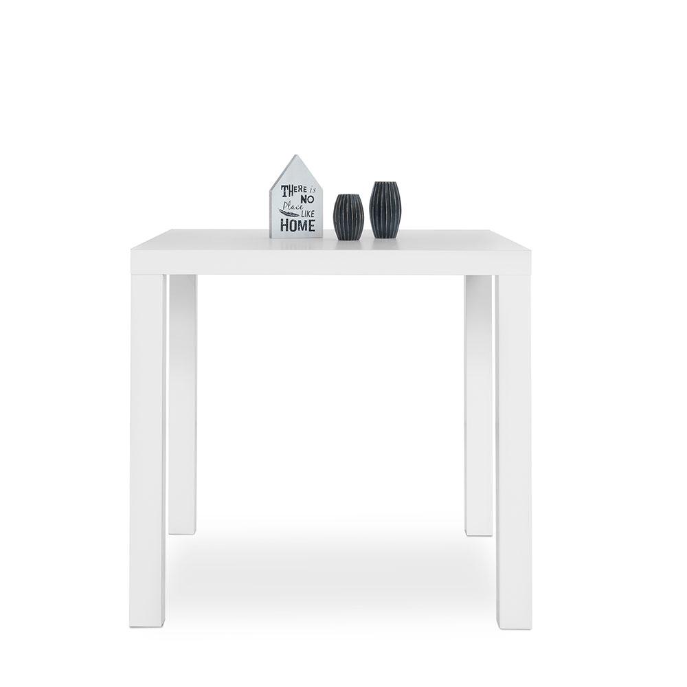 Jedálenský stôl Priscilla, 80 cm, biela lesk, biela
