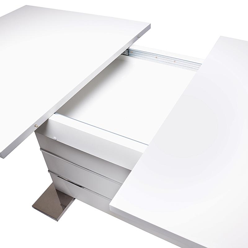 Jedálenský stôl rozkladací Malta, 200 cm, biela, biela