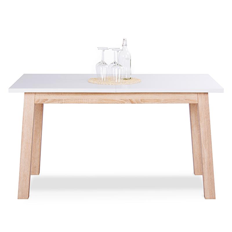 Jedálenský stôl rozkladací Side, 180 cm, biela / dub