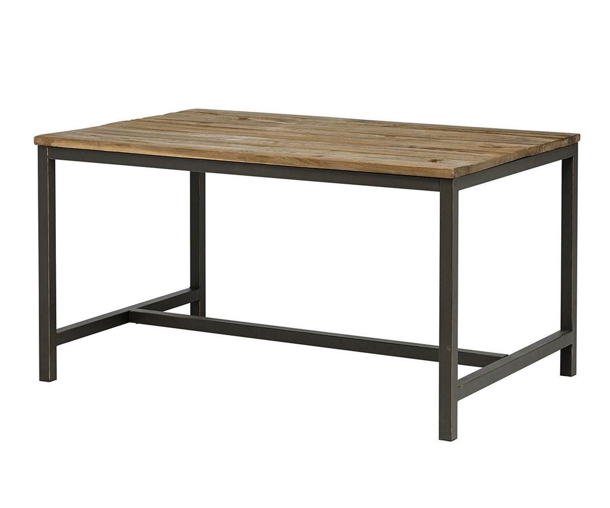 Jedálenský stôl s drevenou doskou Harvest, 140 cm, jilm