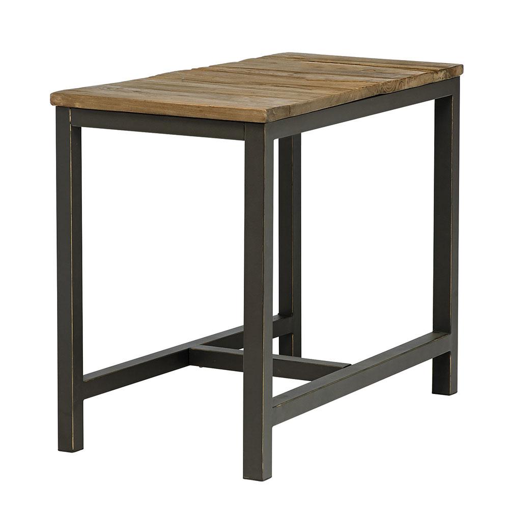 Jedálenský stôl s drevenou doskou Harvest, 55x90 cm, jilm