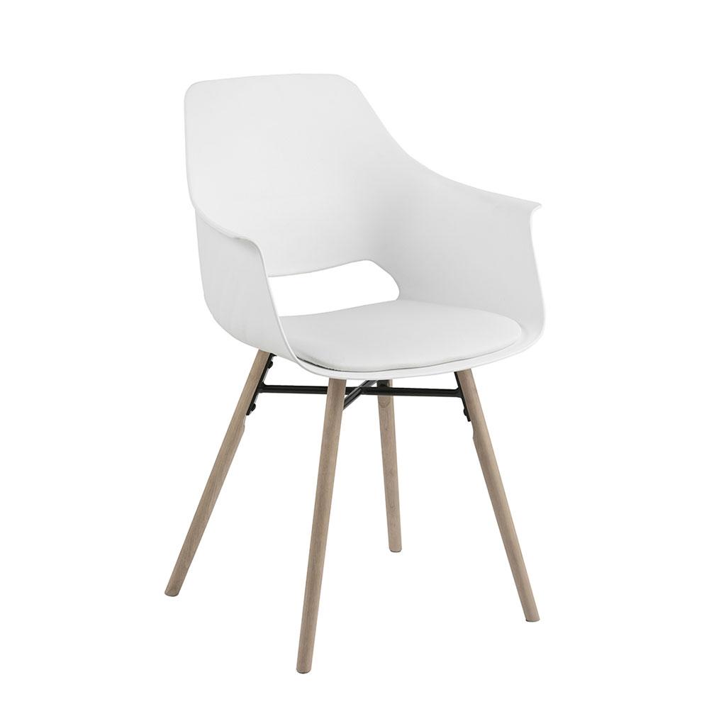 Jedálna stolička Romana (SET 2 ks), biela, biela