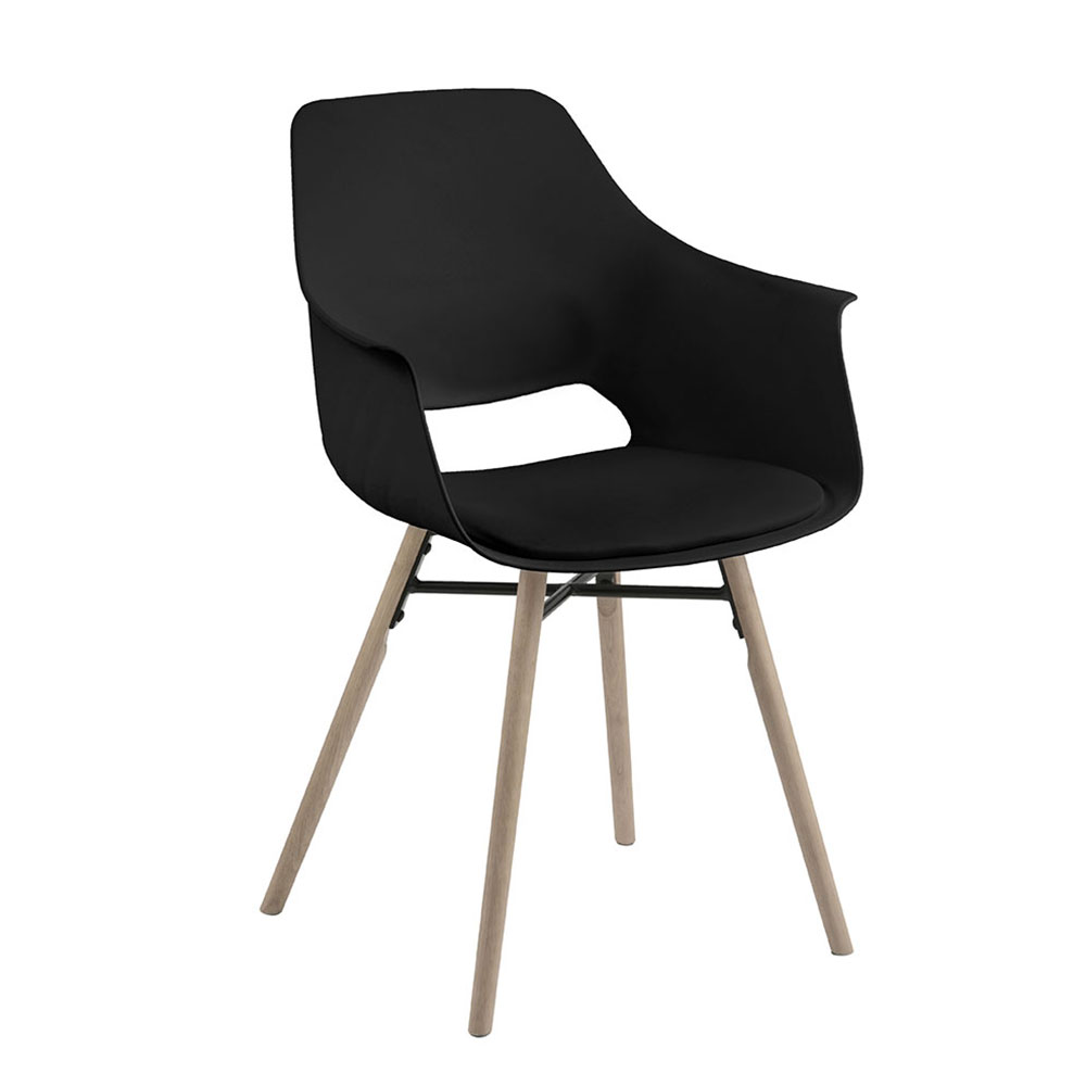 Jedálna stolička Romana (SET 2 ks), čierna, čierna