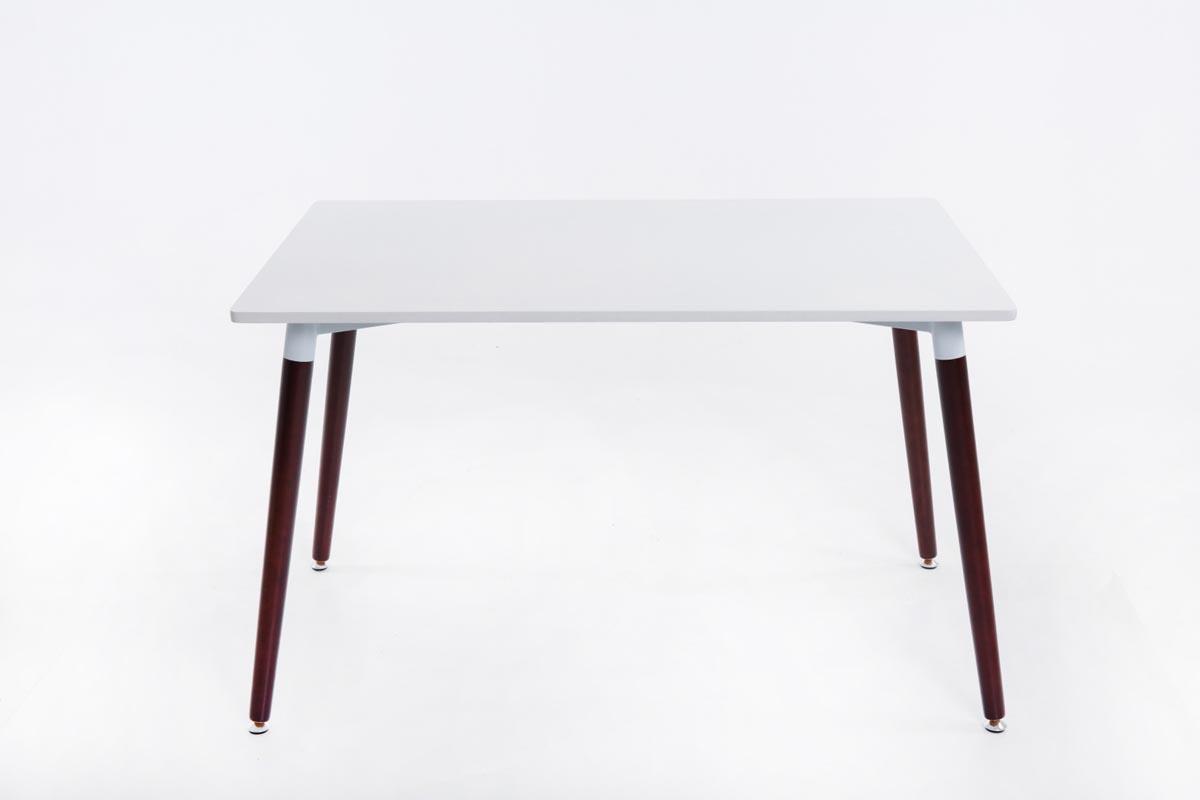 Jedálny stôl Benet, 120 cm, nohy cappuccino, cappuccino / biela