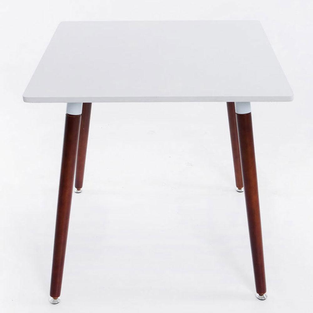 Jedálny stôl Benet, 80 cm, nohy cappuccino, cappuccino / biela