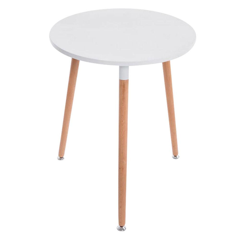 Jedálny stôl Benet guľatý, 60 cm, nohy prírodné, drevo / biela