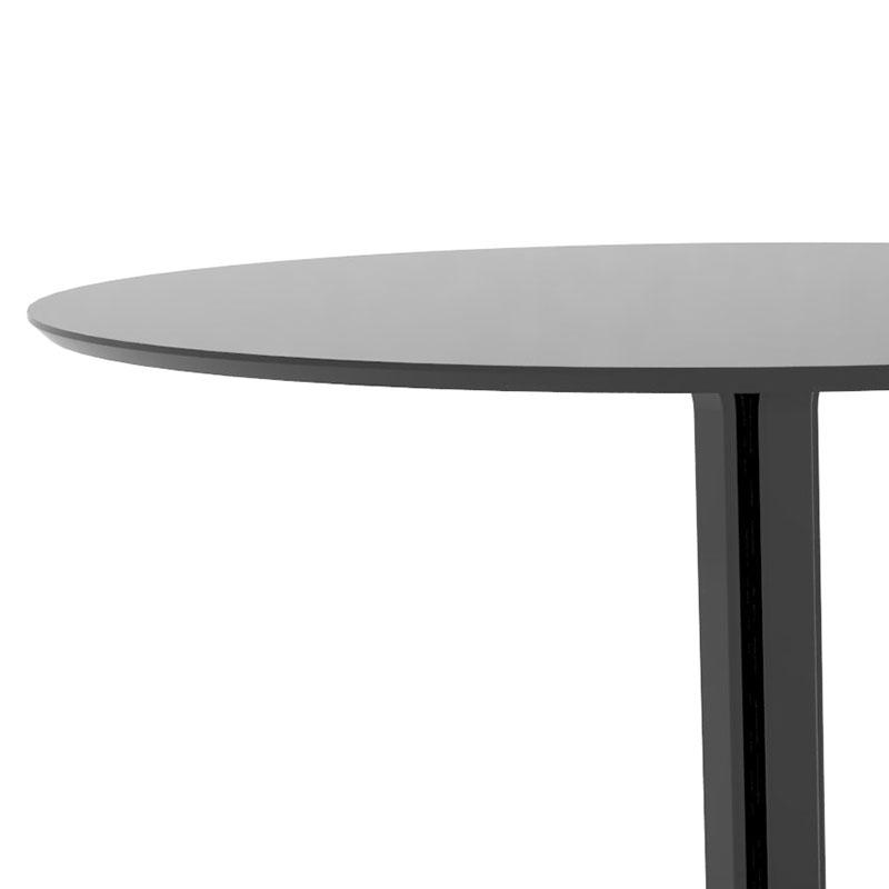 Jedálny stôl Jamie, 110 cm, čierna, čierna