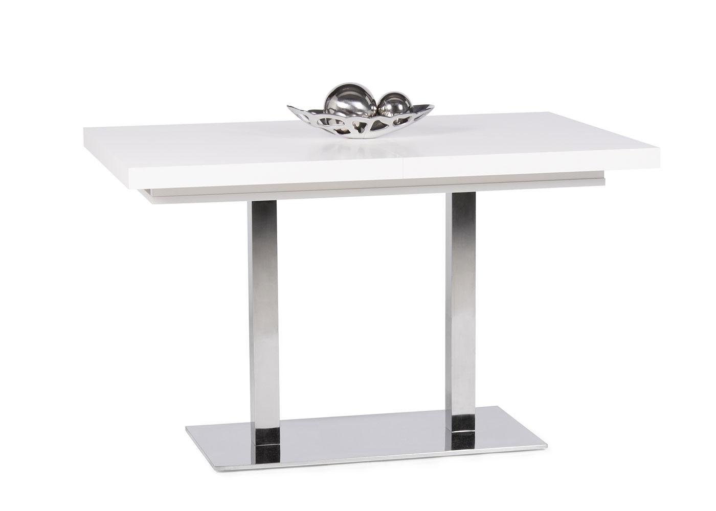 Jedálny stôl rozkladací August, 200 cm, biela, biela