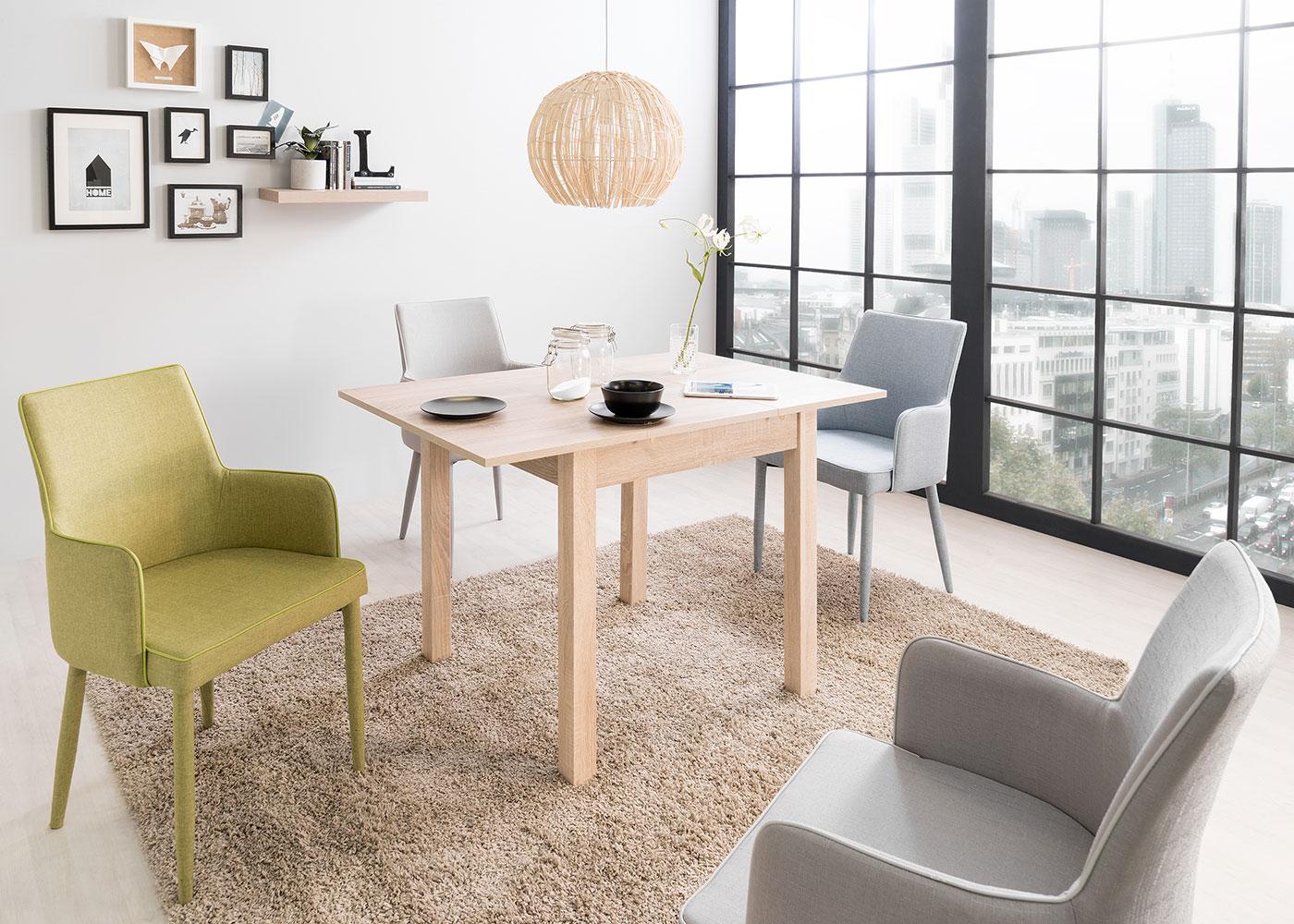 Jedálny stôl rozkladací Kronborg, 120 cm, dub, dub
