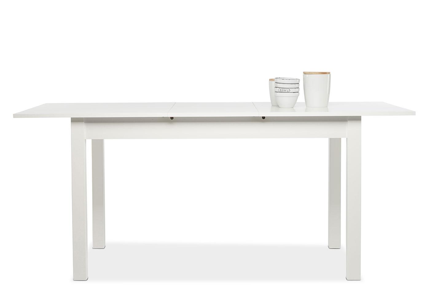 Jedálny stôl rozkladací Kronborg, 180 cm, biela, biela