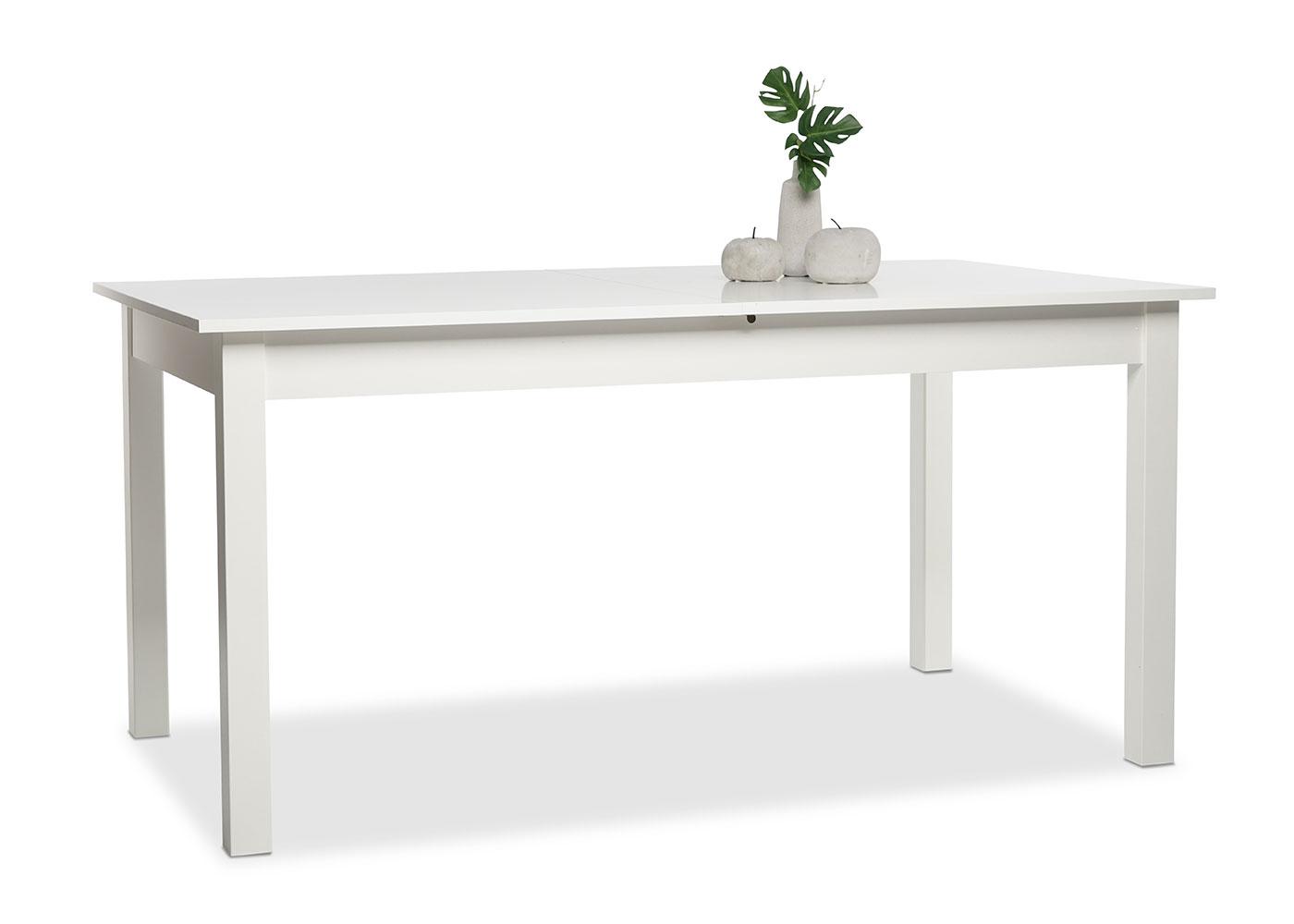 Jedálny stôl rozkladací Kronborg, 200 cm, biela, biela