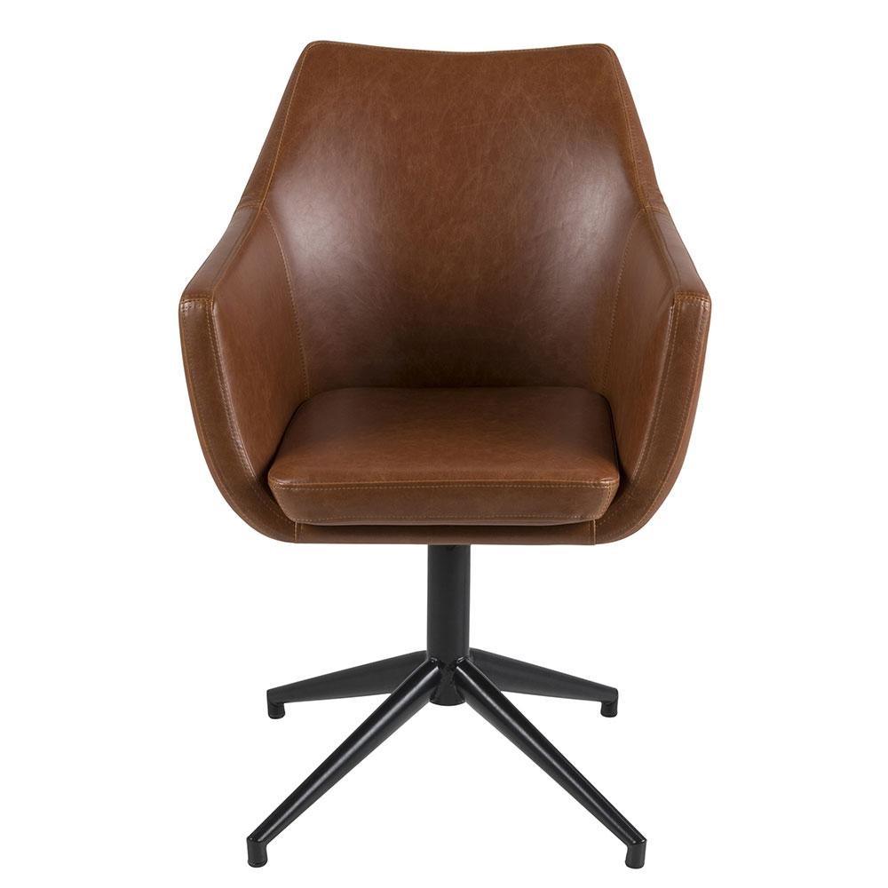 Konferenční / jídelní židle Marte otočná, koňaková