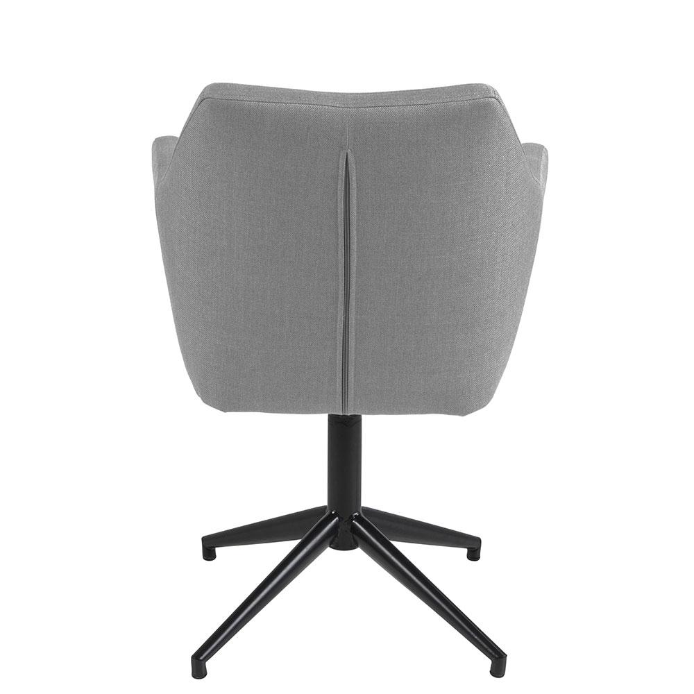 Konferenční / jídelní židle Marte otočná, šedá