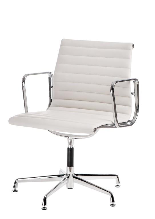 Konferenční židle Magnum, pravá kůže, bílá
