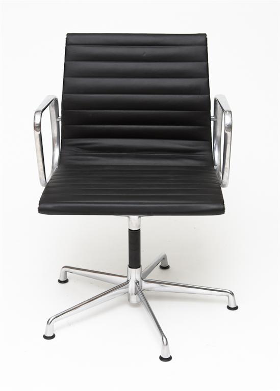 Konferenční židle Magnum, pravá kůže, černá