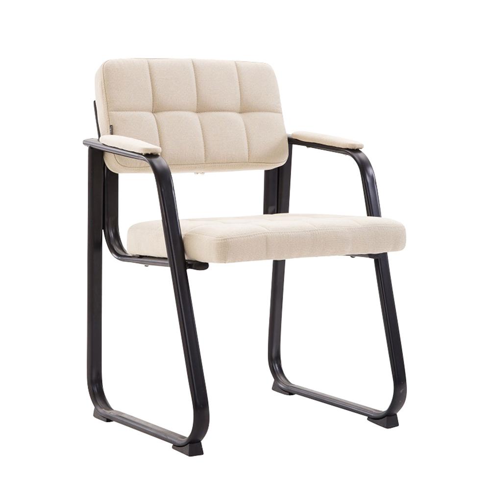 Konferenční židle s područkami Landet textil modrá