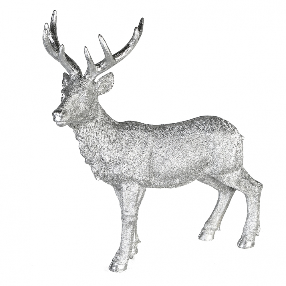Jelen Poly, 40 cm, stříbrná