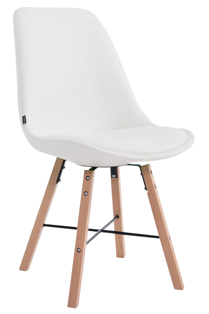 Jídelní čalouněná židle Cayen, přírodní nohy bílá