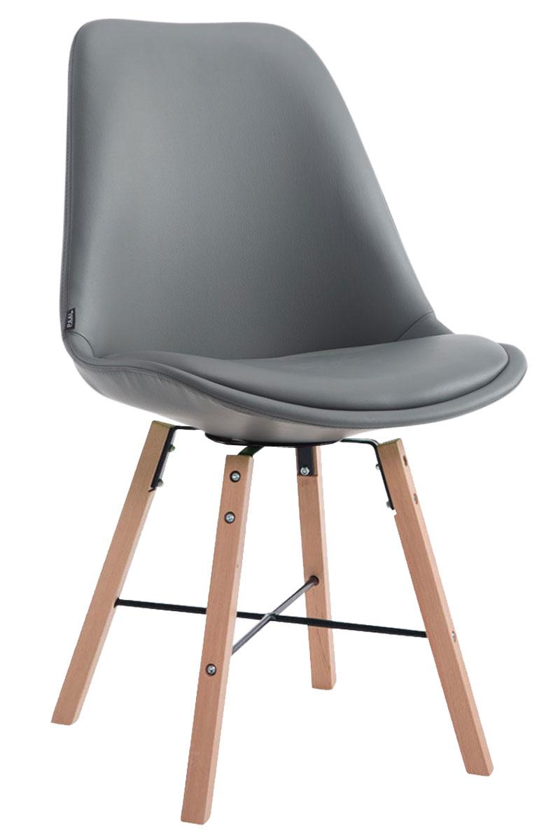 Jídelní čalouněná židle Cayen, přírodní nohy šedá