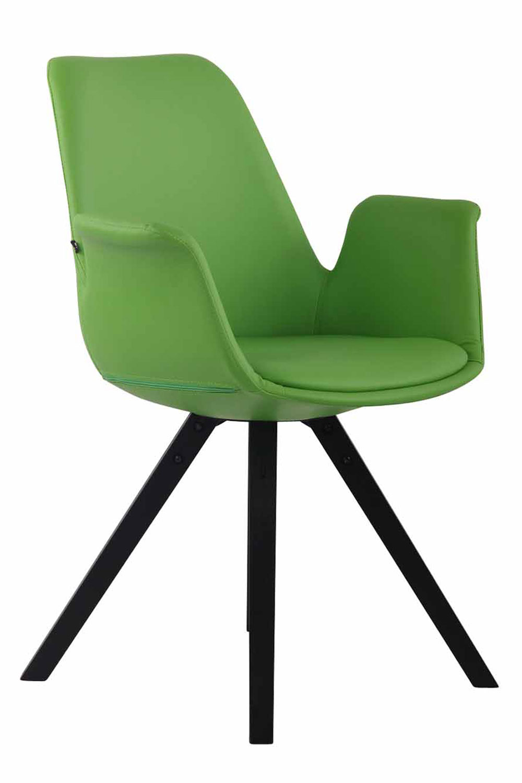 Jídelní čalouněná židle Prins kůže, černé nohy