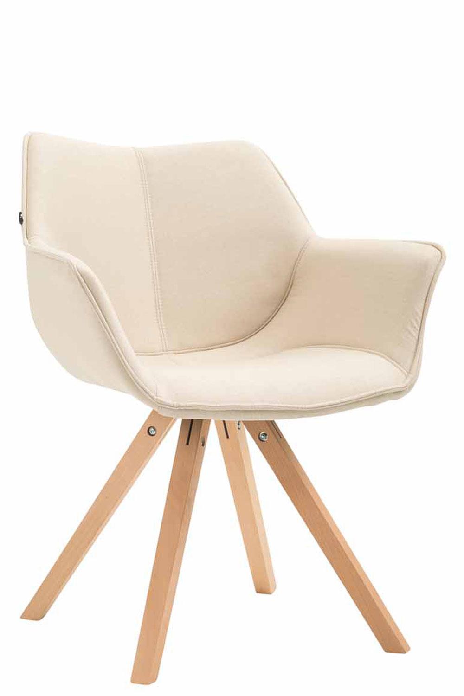Jídelní čalouněná židle Siksak textil, přírodní nohy