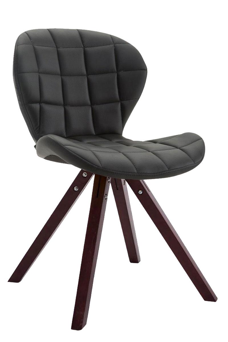 Jídelní čalouněná židle Tryk kůže, nohy cappuccino