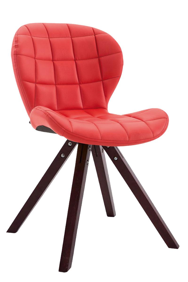 Jídelní čalouněná židle Tryk kůže, nohy cappuccino černá