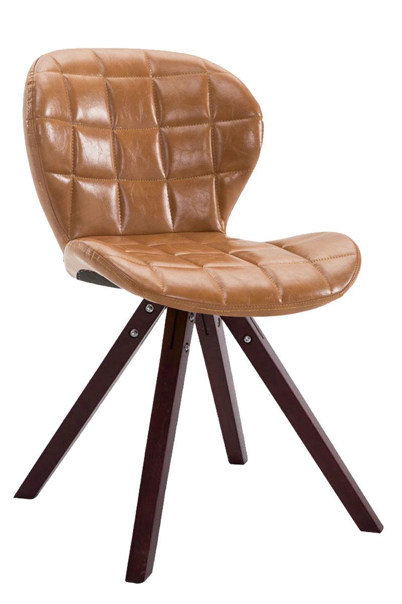 Jídelní čalouněná židle Tryk kůže, nohy cappuccino světle hnědá
