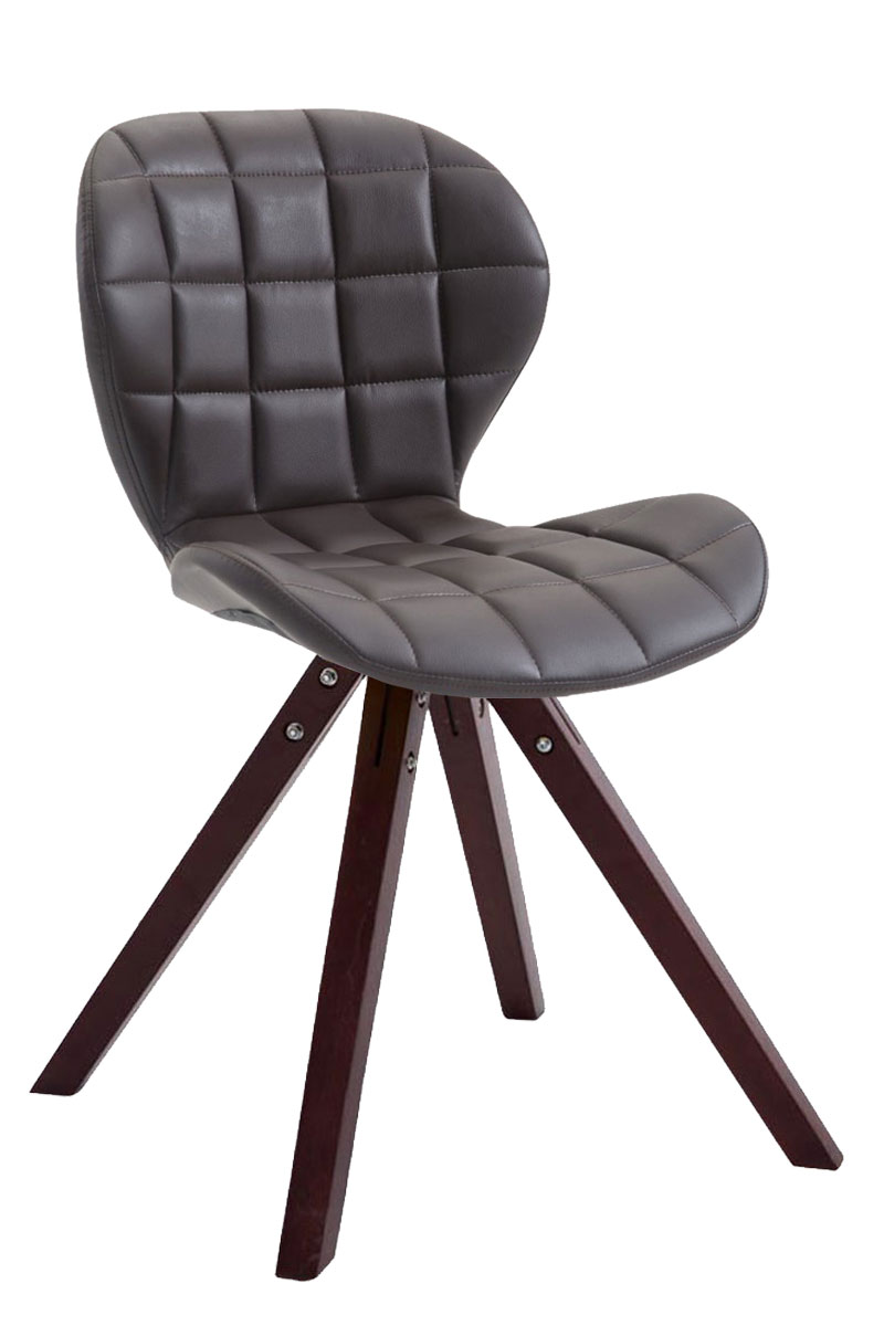 Jídelní čalouněná židle Tryk kůže, nohy cappuccino bílá
