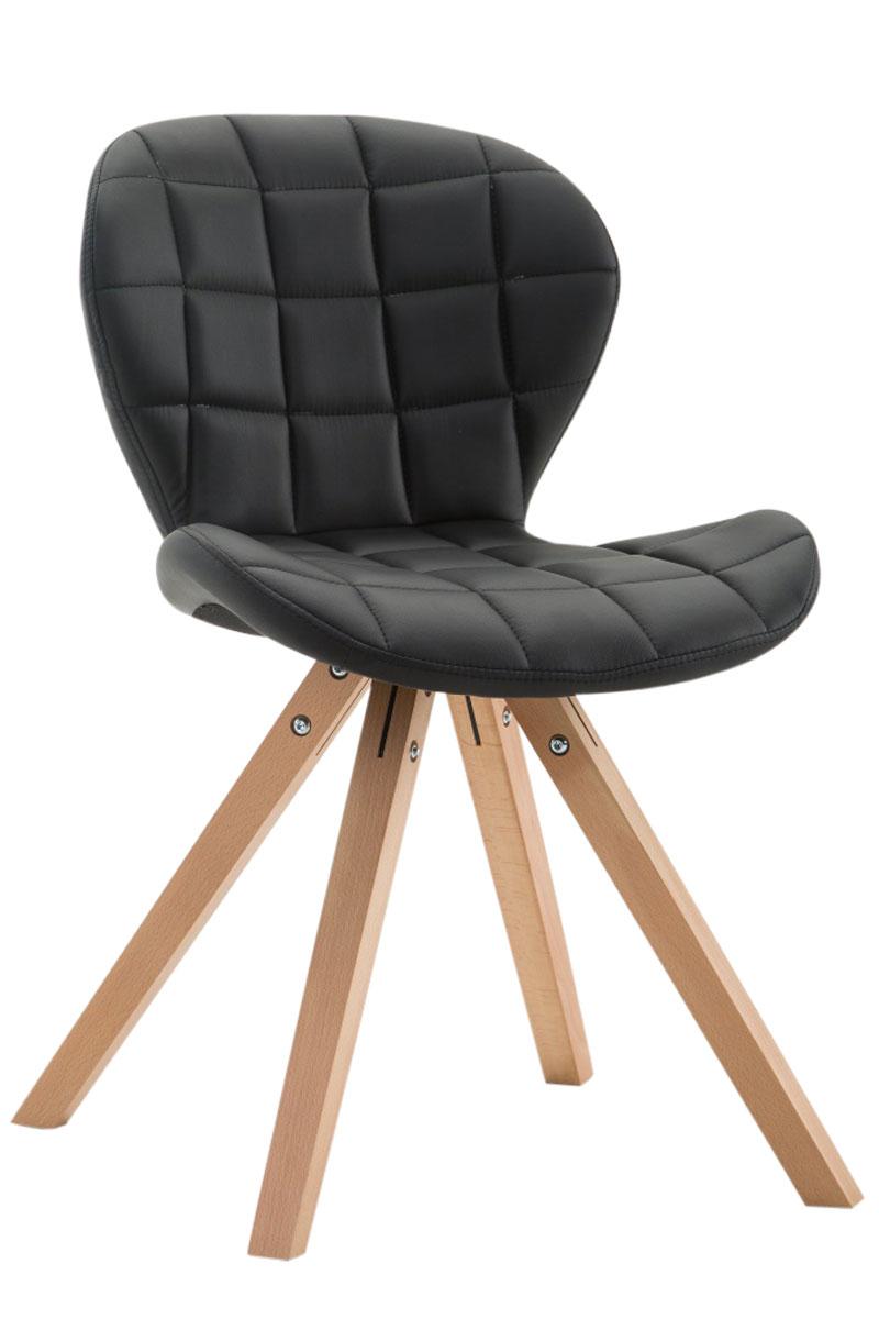 Jídelní čalouněná židle Tryk kůže, přírodní nohy