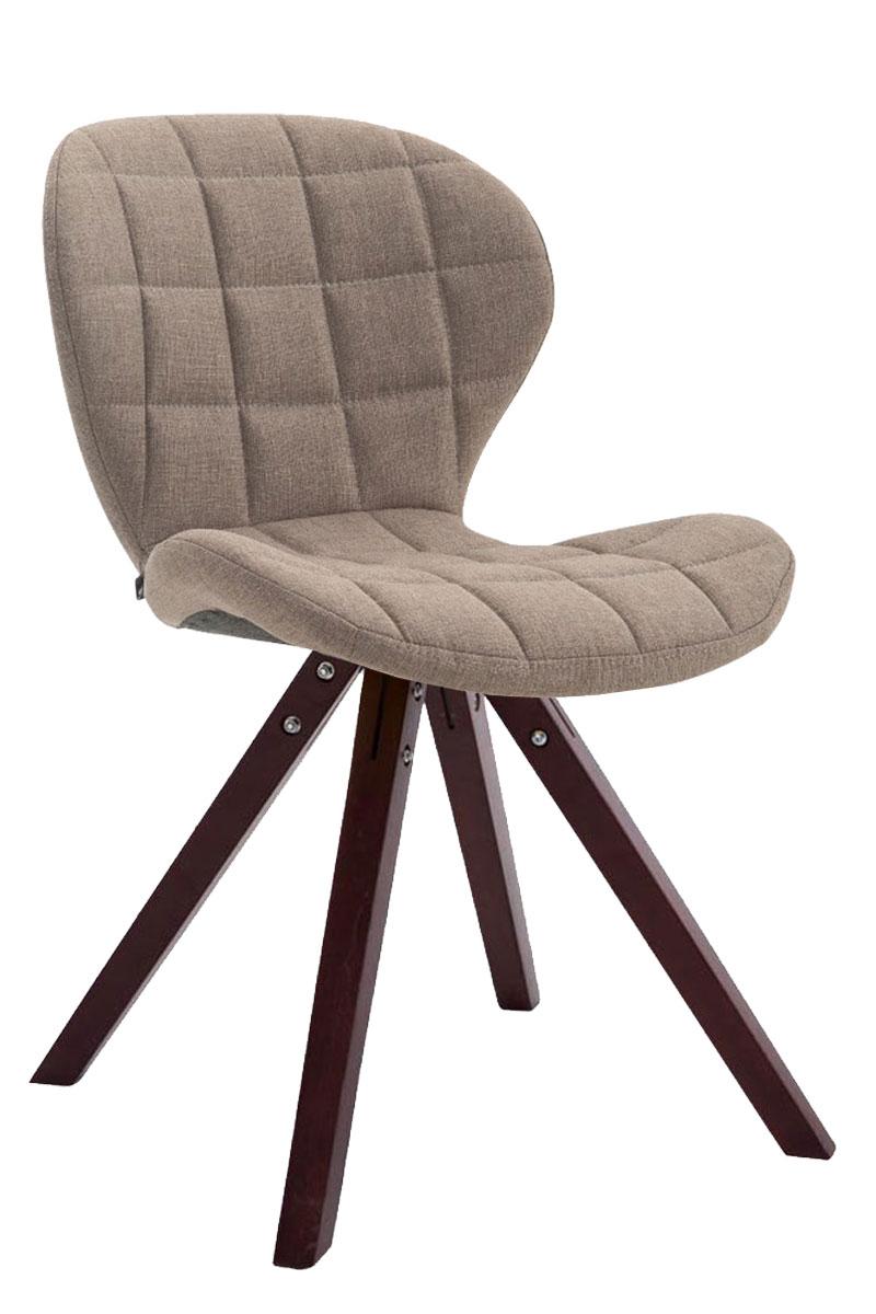 Jídelní čalouněná židle Tryk textil, nohy cappuccino krémová