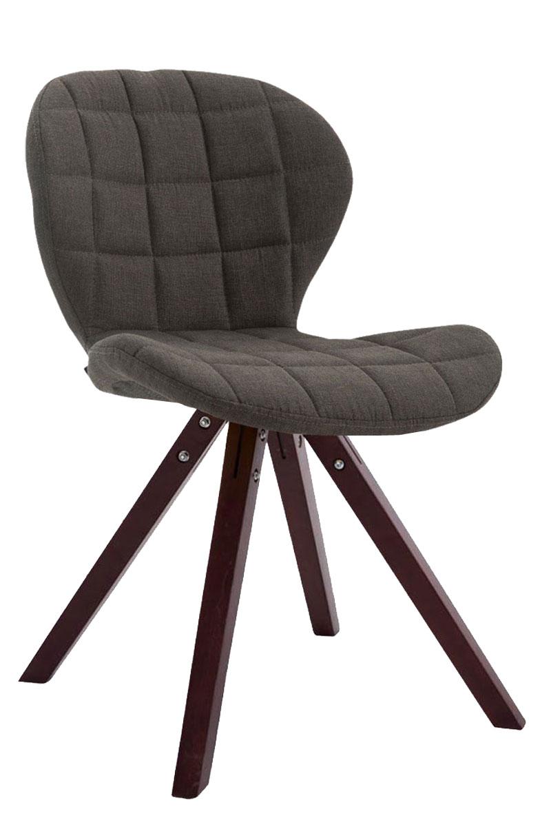 Jídelní čalouněná židle Tryk textil, nohy cappuccino tmavě šedá