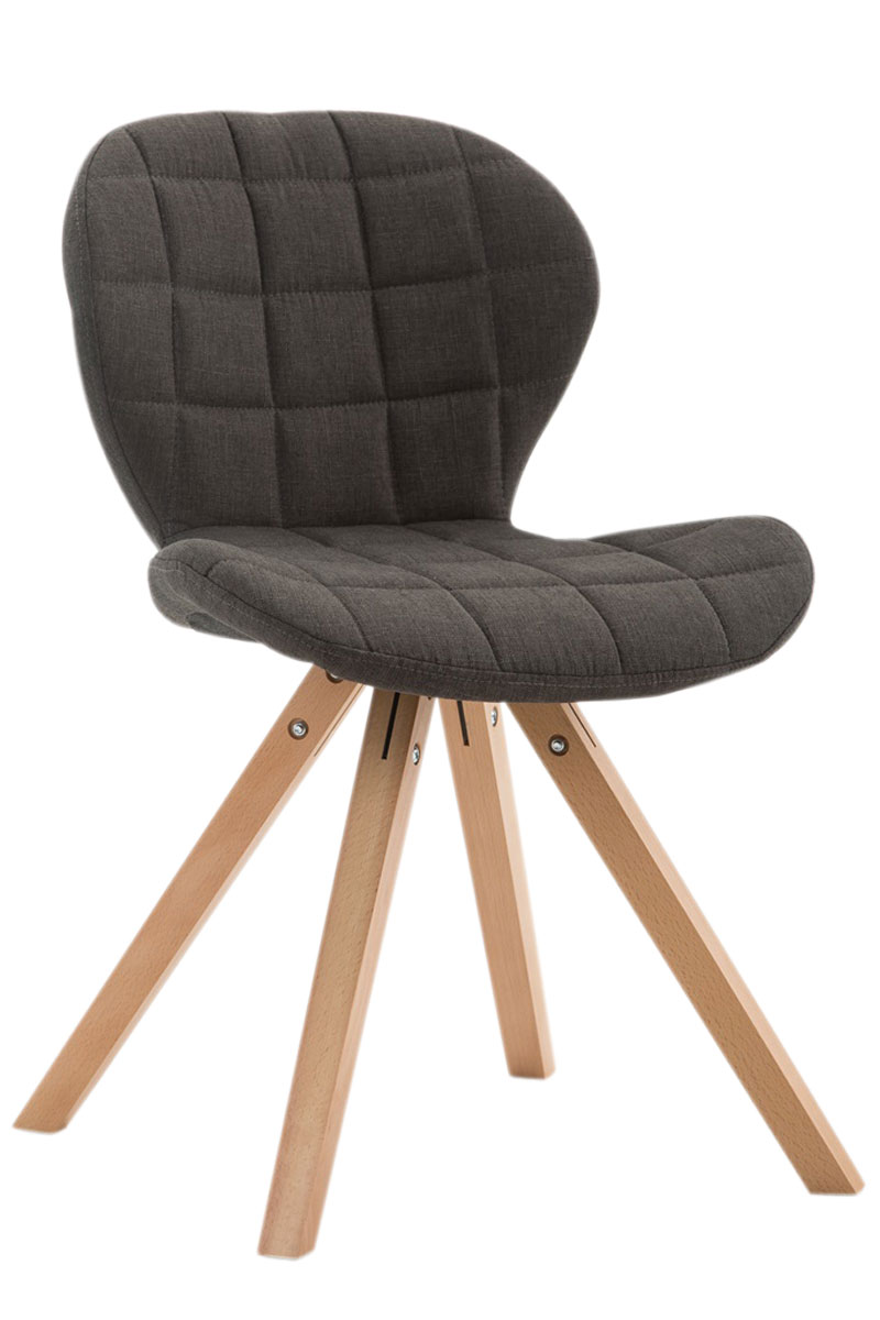 Jídelní čalouněná židle Tryk textil, přírodní nohy