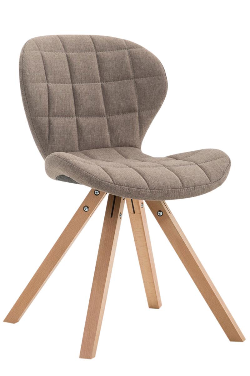 Jídelní čalouněná židle Tryk textil, přírodní nohy taupe