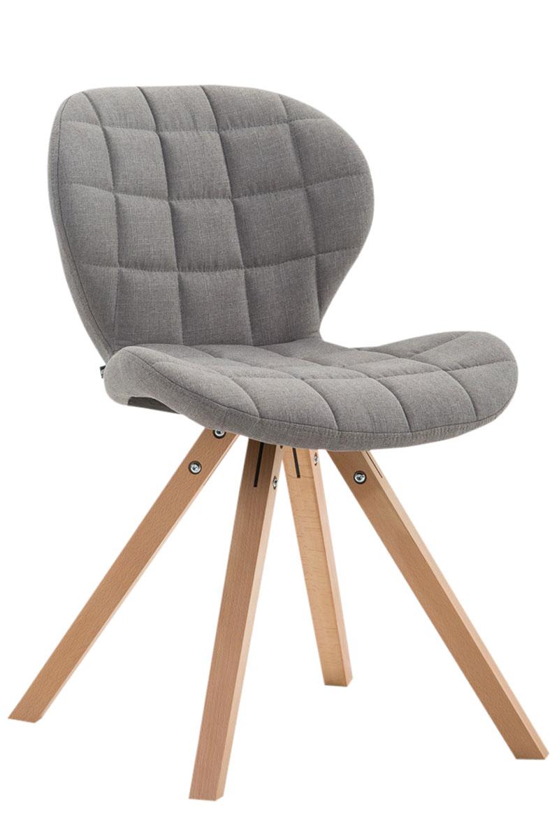 Jídelní čalouněná židle Tryk textil, přírodní nohy modrá