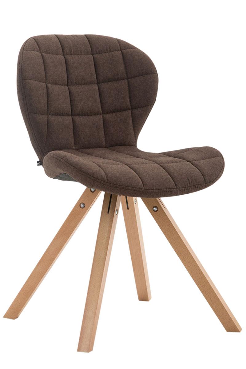 Jídelní čalouněná židle Tryk textil, přírodní nohy krémová