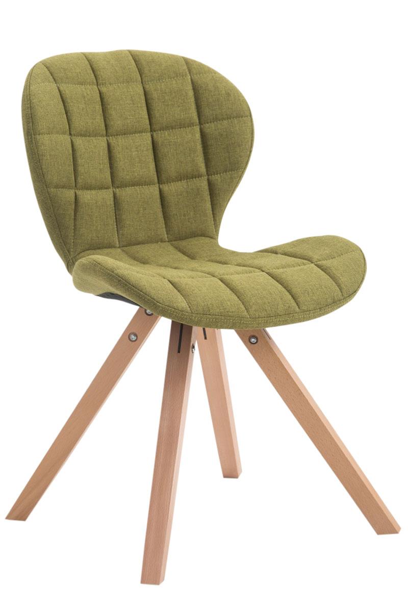 Jídelní čalouněná židle Tryk textil, přírodní nohy zelená