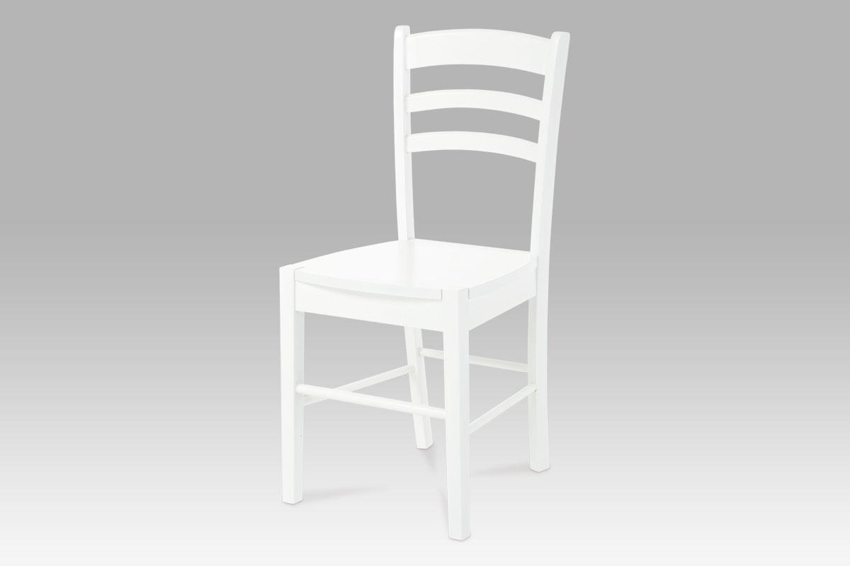 Jídelní dřevěná židle Albina, bílá