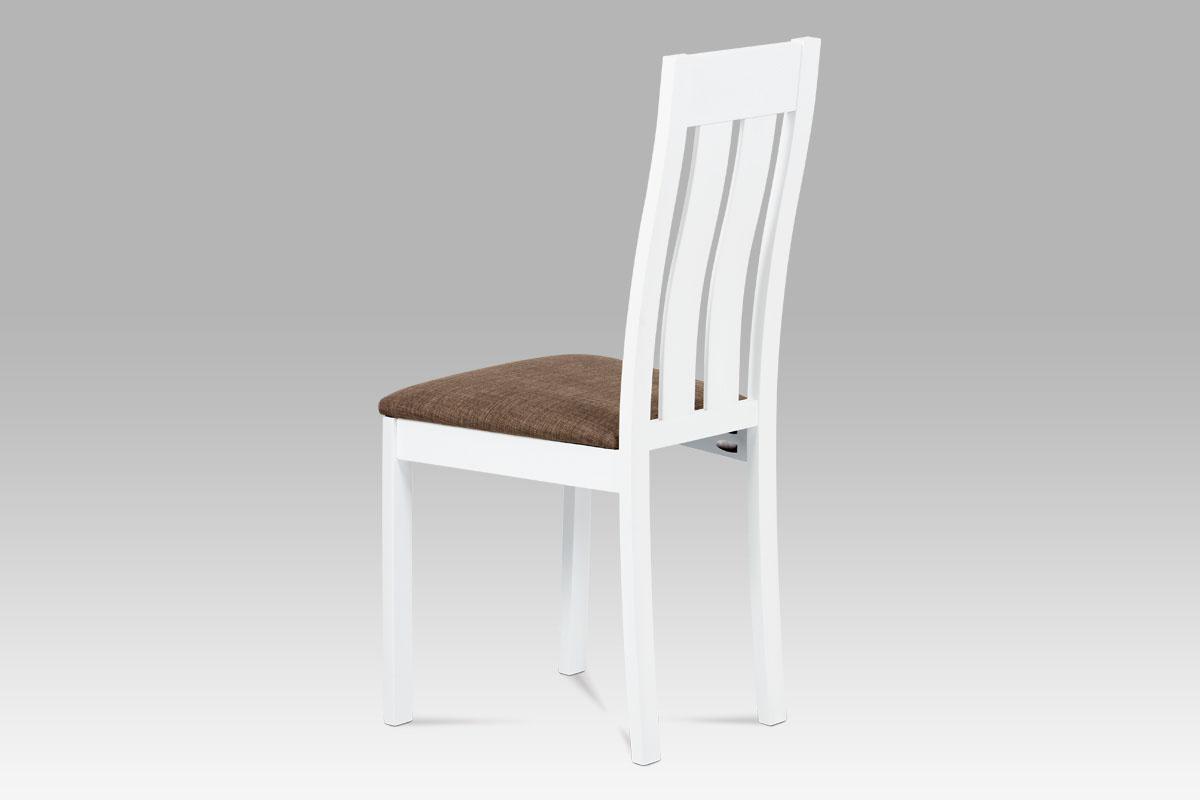 Jídelní dřevěná židle Bulky, bílá/hnědá