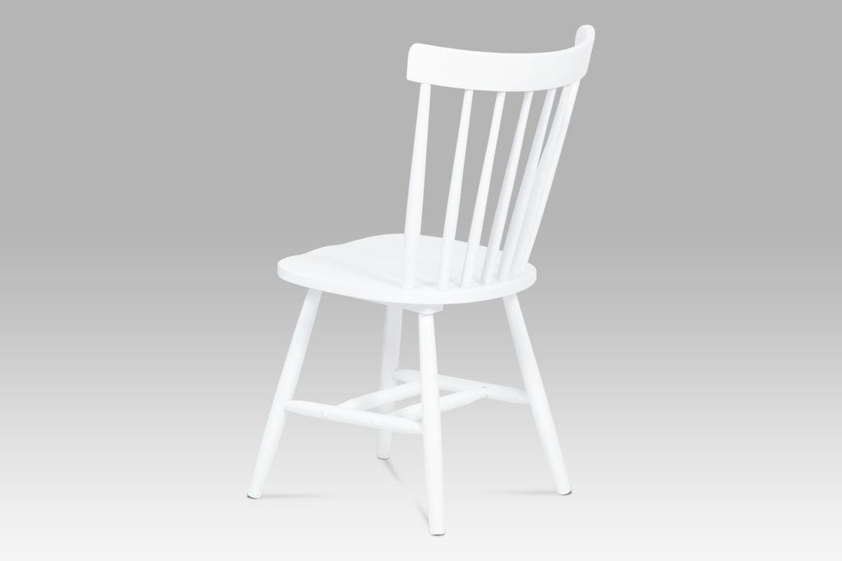Jídelní dřevěná židle Place, bílá