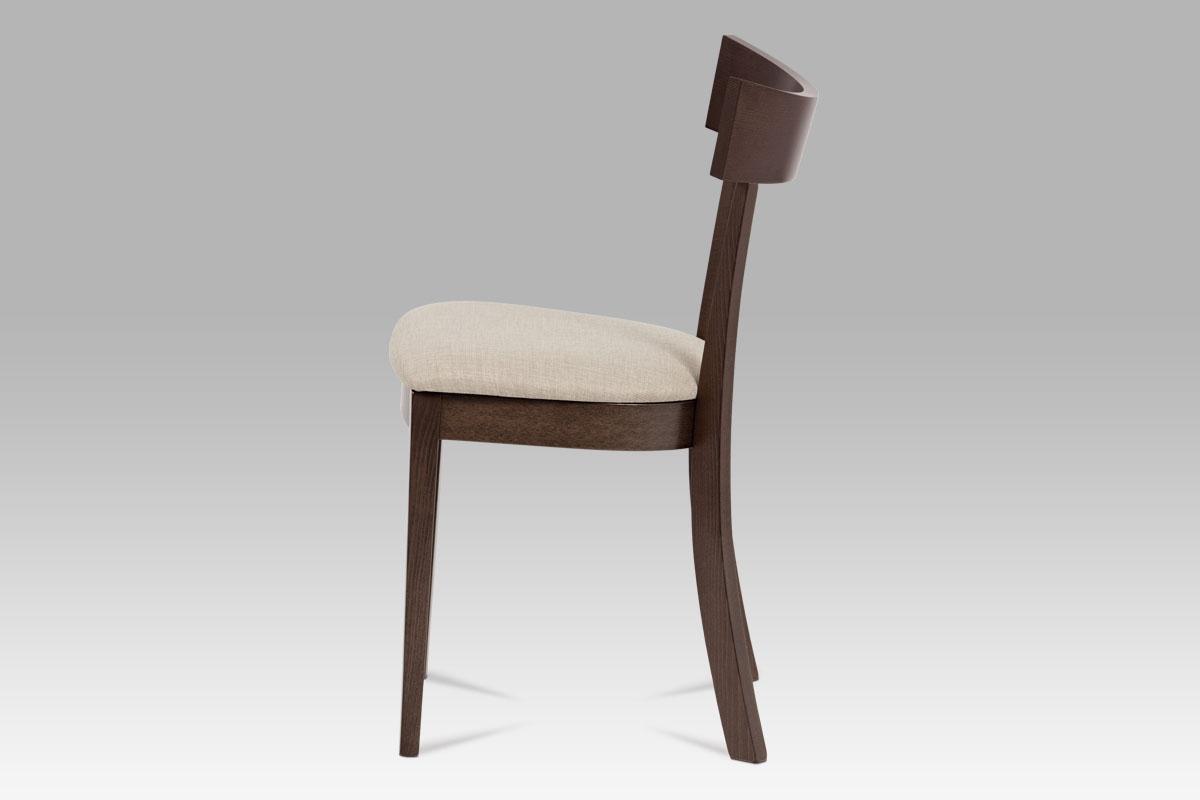 Jídelní dřevěná židle Wide, ořech/krémová