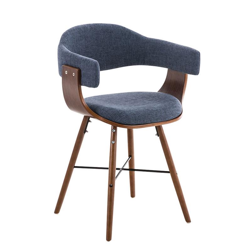 Konferenční / jídelní židle dřevěná Dancer II. textil (SET 2 ks)