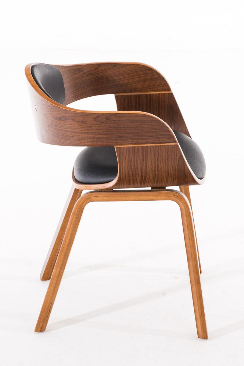 Konferenční / jídelní židle Kingdom ořech (SET 2 ks), černá