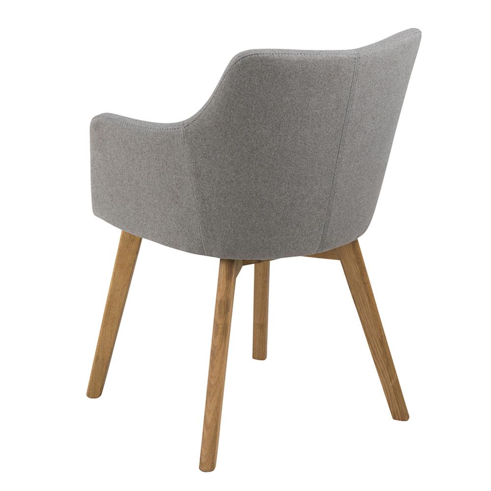 Konferenční / jídelní židle s područkami Barley, šedá