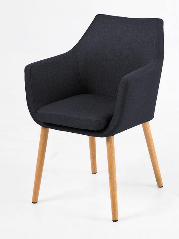 Konferenční / jídelní židle s područkami Marte B antracitová