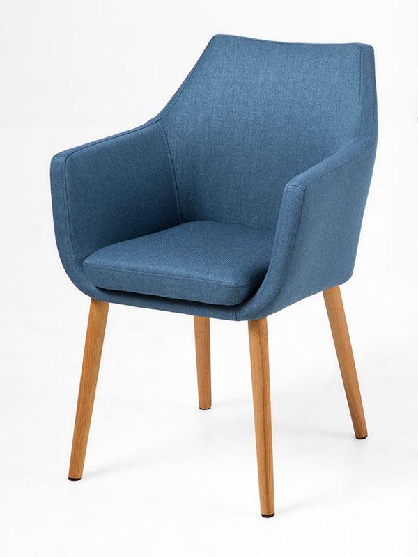 Konferenční / jídelní židle s područkami Marte B modrá
