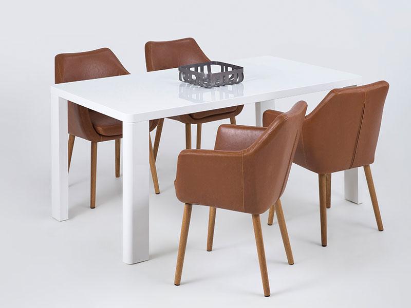Konferenční / jídelní židle s područkami Marte šedá