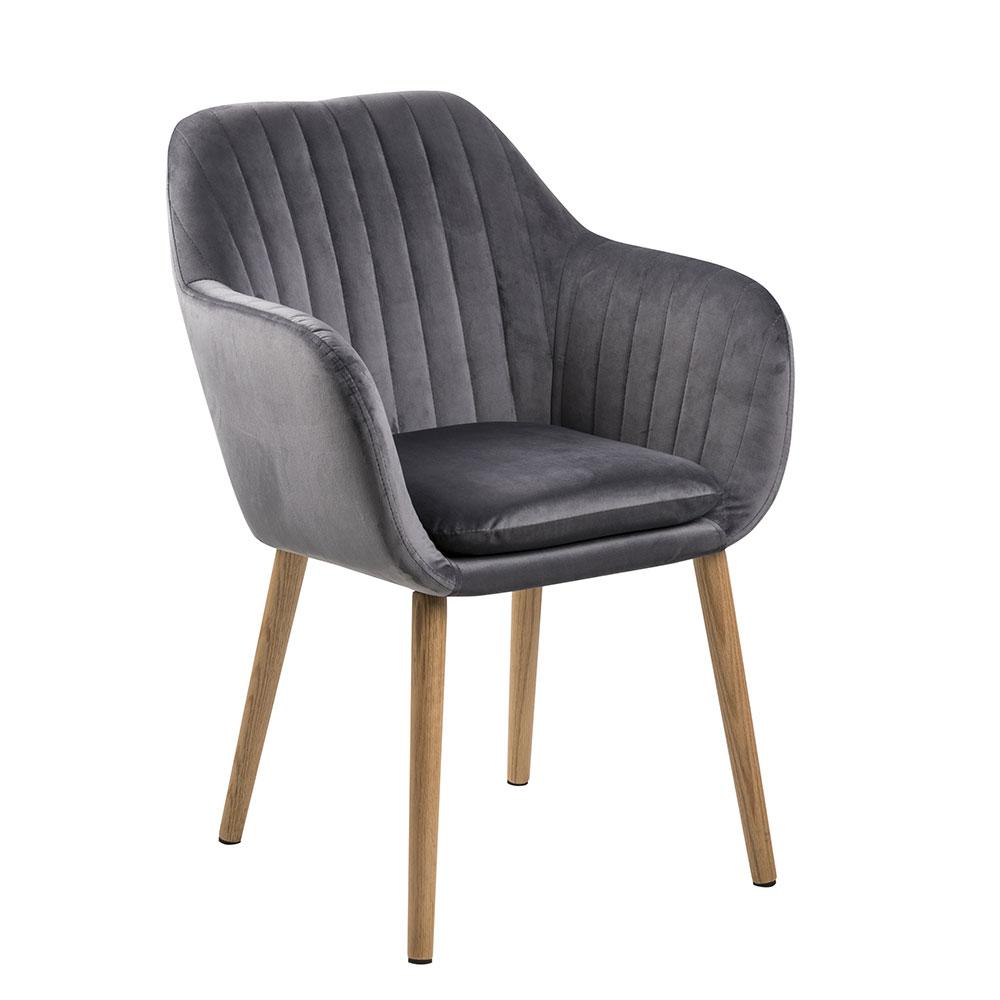 Konferenční / jídelní židle s prošíváním Milla tmavě šedá