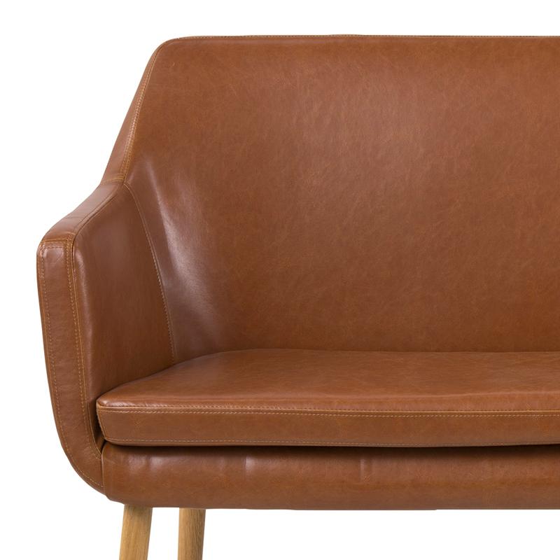 Jídelní lavice Marte, 159 cm, koňaková