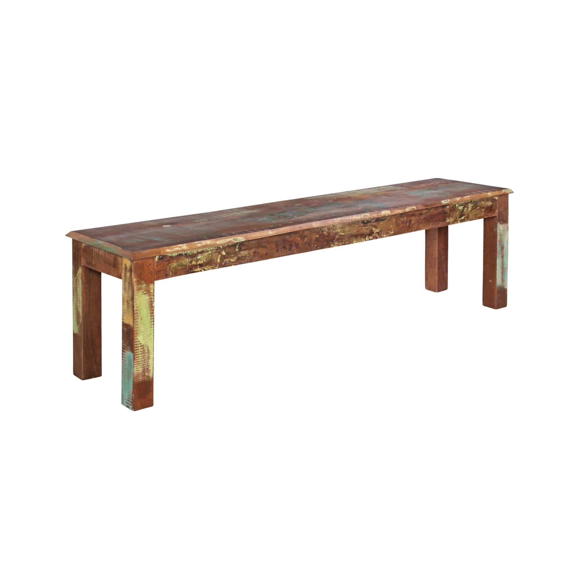 Jídelní lavice z recyklovaného dřeva Kalkutta, 160 cm, mango